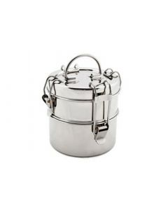 To-Go Ware 2 Tier Snack Stack Stainless Steel Tiffin - Small
