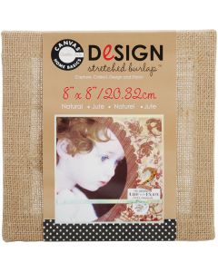 "Canvas Corp Stretched Burlap 8""X8""-Natural"