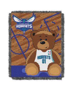 The Northwest Company Bobcats  Baby 36x46 Triple Woven Jacquard Throw - Half Court Series
