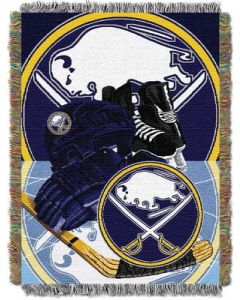 """The Northwest Company Sabres  """"Home Ice Advantage"""" 48x60 Tapestry Throw"""