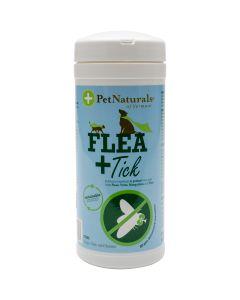 Pet Naturals of Vermont Flea + Tick Towelettes For Cats & Dogs 60/Pkg- - Flea + Tick Towelettes For Cats & Dogs 60/Pkg-