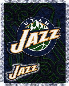 "The Northwest Company Jazz 48""x60"" Triple Woven Jacquard Throw (NBA) - Jazz 48""x60"" Triple Woven Jacquard Throw (NBA)"