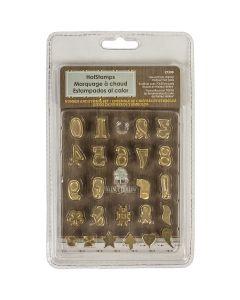 Walnut Hollow Hot Stamps Number & Symbol Set 24/Pkg -