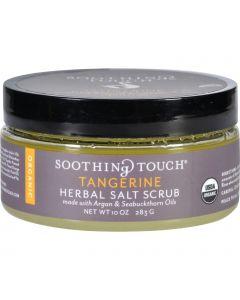 Soothing Touch Scrub - Organic - Salt - Herbal - Tangerine - 10 oz