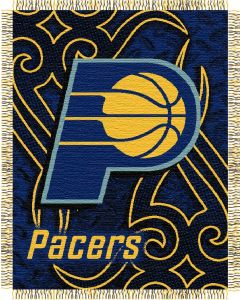 """The Northwest Company Pacers 48""""x60"""" Triple Woven Jacquard Throw (NBA) - Pacers 48""""x60"""" Triple Woven Jacquard Throw (NBA)"""