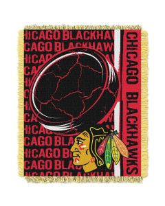 The Northwest Company Blackhawks  48x60 Triple Woven Jacquard Throw - Double Play Series
