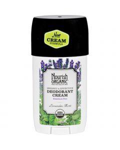 Nourish Organic Deodorant - Cream - Organic - Lavender Mint - 2 oz