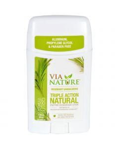 Via Nature Deodorant - Stick - Rosemary Sandalwood - 2.25 oz