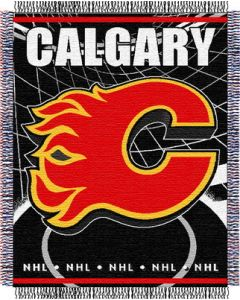 """The Northwest Company Flames 48""""x 60"""" Triple Woven Jacquard Throw (NHL) - Flames 48""""x 60"""" Triple Woven Jacquard Throw (NHL)"""