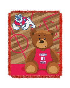 The Northwest Company Fresno State College Baby 36x46 Triple Woven Jacquard Throw - Fullback Series