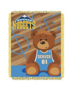 The Northwest Company Nuggets  Baby 36x46 Triple Woven Jacquard Throw - Half Court Series