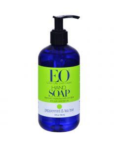 EO Products Liquid Hand Soap Peppermint and Tea Tree - 12 fl oz