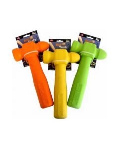 "Ruff Dawg Ruff Tools Hammer Dog Toy Assorted Colors 8.5"" x 3.5"" x 1"""