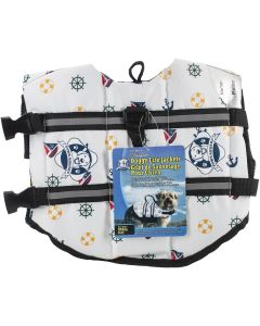 Fido Pet Products Paws Aboard Doggy Life Jacket Small-Nautical Dog