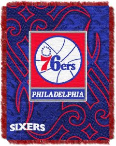 "The Northwest Company 76ers 48""x60"" Triple Woven Jacquard Throw (NBA) - 76ers 48""x60"" Triple Woven Jacquard Throw (NBA)"