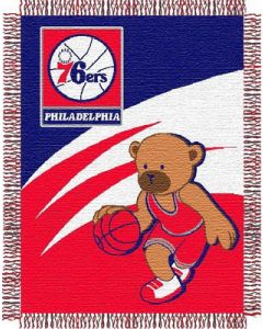 "The Northwest Company 76ers 044 baby 36""x 46"" Triple Woven Jacquard Throw (NBA) - 76ers 044 baby 36""x 46"" Triple Woven Jacquard Throw (NBA)"