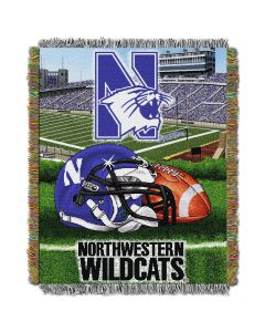 "The Northwest Company Northwestern  College ""Home Field Advantage"" 48x60 Tapestry Throw"