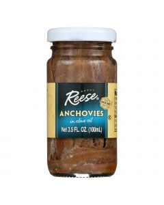 Reese Anchovy Fillets - Case of 12 - 3.5 oz.