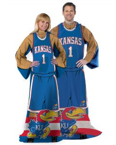 "The Northwest Company Kansas College ""Uniform"" Adult Fleece Comfy Throw"