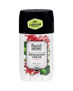 Nourish Organic Deodorant - Cream - Organic - Geranium - 2 oz