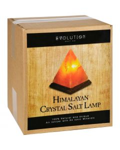 Evolution Salt Crystal Salt Lamp - Pyramid - 7 inches - 1 Count