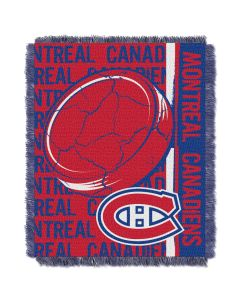 The Northwest Company Canadiens  48x60 Triple Woven Jacquard Throw - Double Play Series