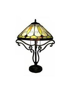 """Warehouse of Tiffany """"Tiffany Style 2 Light Table Lamp - Bronze"""""""