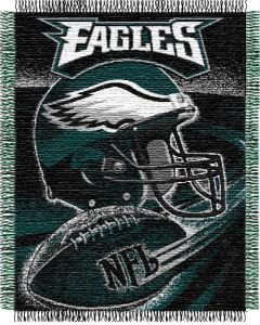 "The Northwest Company Eagles ""Spiral"" 48""x60"" Triple Woven Jacquard Throw (NFL) - Eagles ""Spiral"" 48""x60"" Triple Woven Jacquard Throw (NFL)"