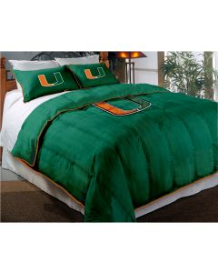 """The Northwest Company Miami Twin/Full Chenille Embroidered Comforter Set (64""""x86"""") with 2 Shams (24""""x30"""") (College) - Miami Twin/Full Chenille Embroidered Comforter Set (64""""x86"""") with 2 Shams (24""""x30"""") (College)"""