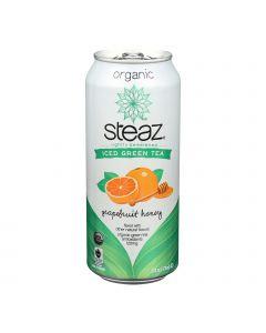 Steaz Lightly Sweetened Green Tea - Grapefruit Honey - Case of 12 - 16 Fl oz.