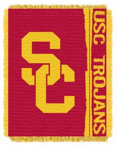 The Northwest Company USC College 48x60 Triple Woven Jacquard Throw - Double Play Series