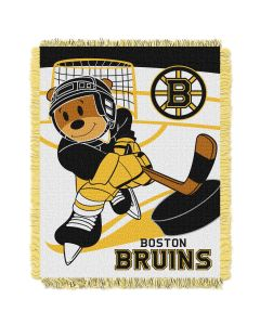 The Northwest Company Bruins  Baby 36x46 Triple Woven Jacquard Throw - Score Series