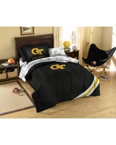 The Northwest Company Georga Tech Twin Bed in a Bag Set (College) - Georga Tech Twin Bed in a Bag Set (College)