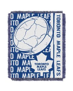 The Northwest Company Maple Leafs  48x60 Triple Woven Jacquard Throw - Double Play Series