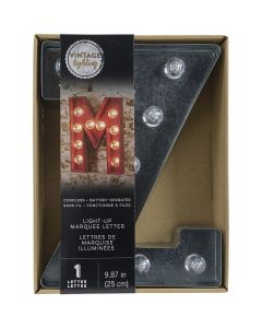 "Darice Silver Metal Marquee Letter 9.875""-Z"