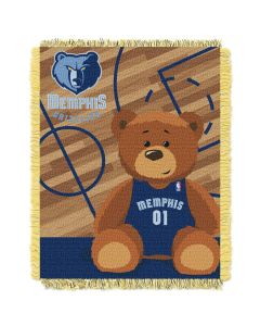 The Northwest Company Grizzles  Baby 36x46 Triple Woven Jacquard Throw - Half Court Series