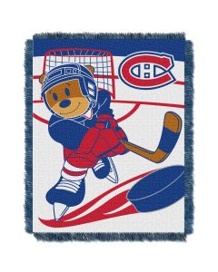 The Northwest Company Canadiens   Baby 36x46 Triple Woven Jacquard Throw - Score Series