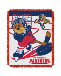 The Northwest Company Panthers  Baby 36x46 Triple Woven Jacquard Throw - Score Series