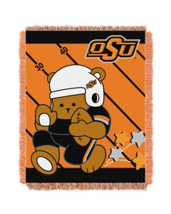 The Northwest Company Oklahoma State College Baby 36x46 Triple Woven Jacquard Throw - Fullback Series