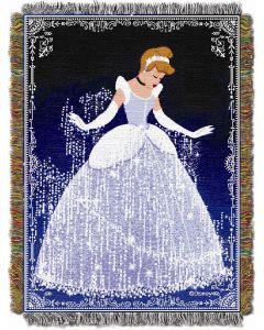 "The Northwest Company Disney Princess - Cinderella Sparkles 48""x60"" Tapestry Throw"