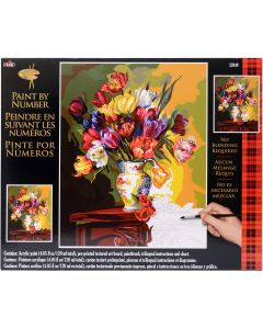 "Plaid:Craft NEW! Paint By Number Kit 16""X20""-Tulips On Parade"