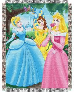 """The Northwest Company Disney Princess - Walk in the Park 48""""x60"""" Tapestry Throw"""
