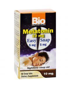 Bio Nutrition Inc Melatonin - 10 mg - 60 Tablets