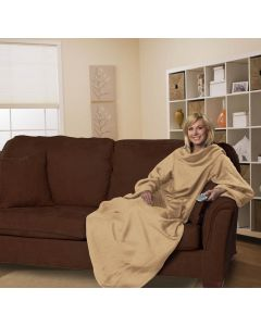 The Northwest Company Comfy Adult Tan  (Adult) Fleece Comfy Throw - Comfy Adult Tan  (Adult) Fleece Comfy Throw