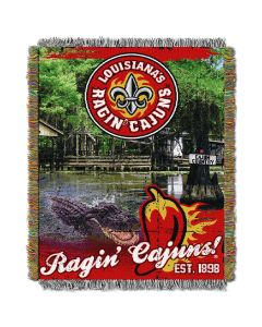 "The Northwest Company Louisiana Lafayette College ""Home Field Advantage"" 48x60 Tapestry Throw"