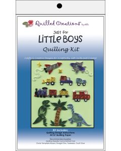 Quilled Creations Quilling Kit-Just for Little Boys