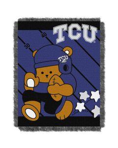 The Northwest Company TCU  College Baby 36x46 Triple Woven Jacquard Throw - Fullback Series