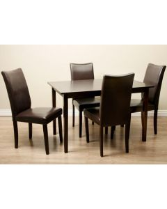 Warehouse of Tiffany Shino Light Cappuccino 5-piece Dining Furniture Set