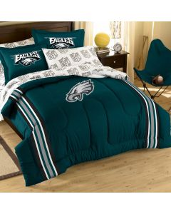 The Northwest Company Eagles Twin/Full Chenille Embroidered Comforter Set (64x86) with 2 Shams (24x30) (NFL) - Eagles Twin/Full Chenille Embroidered Comforter Set (64x86) with 2 Shams (24x30) (NFL)