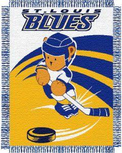 "The Northwest Company Blues 044 baby 36""x 46"" Triple Woven Jacquard Throw (NHL) - Blues 044 baby 36""x 46"" Triple Woven Jacquard Throw (NHL)"